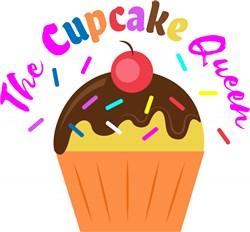 The Cupcake Queen print art