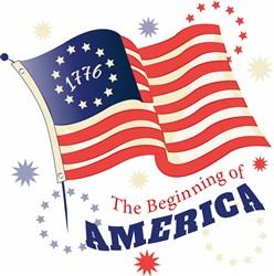 The Beginning Of America print art