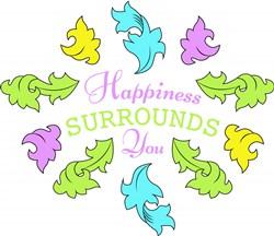 Flourish Happiness Surrounds You print art