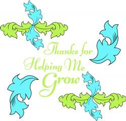 Flourish Thanks For Helping Me Grow print art