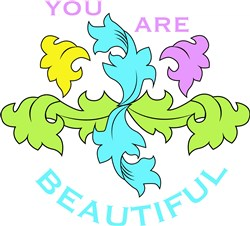 Flourish You Are Beautiful print art