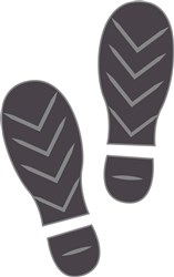 Footprints print art
