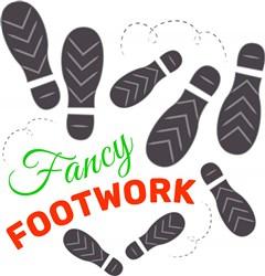 Footprints Fancy Footwork print art