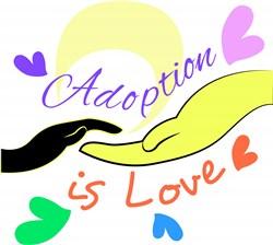 Hands Adoption Is Love print art