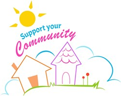 Support Your Community print art