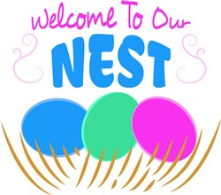 Welcome To Our Nest print art