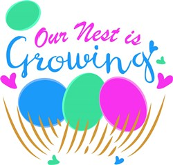 Our Nest Is Growing print art