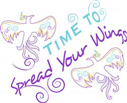 Time To Spread Your Wings print art