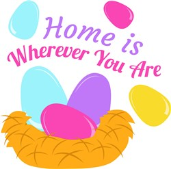 Nest Eggs Home Is Wherever You Are print art