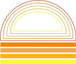 Abstract Sun print art