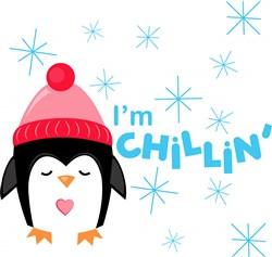Penguin I m Chillin print art