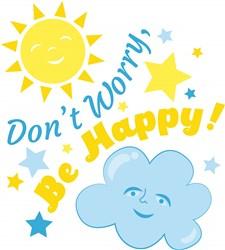 Sun Cloud Don t Worry Be Happy print art