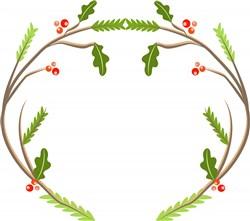 Woodlands Wreath print art