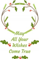 Woodlands Wreath May All Your Wishes Come True print art