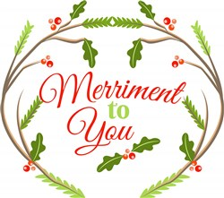 Woodlands Wreath Merriment To You print art