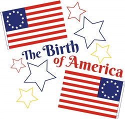 Betsy Ross Flag The Birth Of America print art