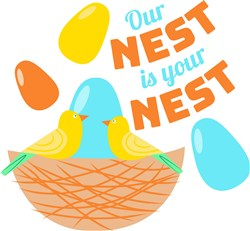 Our Nest Is Your Nest print art