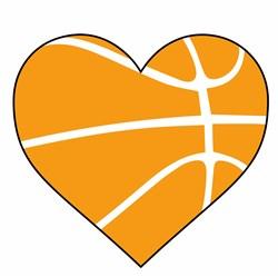 Basketball Heart print art