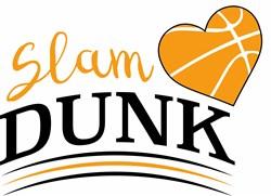 Basketball Slam Dunk print art