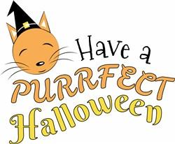 Have A Purrfect Halloween print art