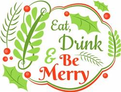 Eat Drink & Be Merry print art
