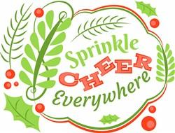 Holiday Border Sprinkle Cheer Everywhere print art