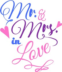 Mr & Mrs. Love print art