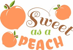 Sweet As A Peach print art