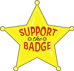 Support The Badge print art