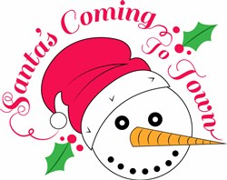 Santas Coming To Town print art
