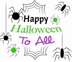 Happy Halloween To All print art