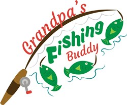 Grandpas Fishing Buddy print art