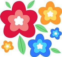 Colorful Flowers print art