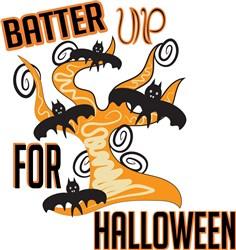 Batter Up For Halloween print art