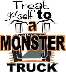 Halloween Monster Truck print art