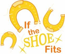 Horseshoe If The Shoe Fits print art