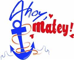 Ahoy Matey print art