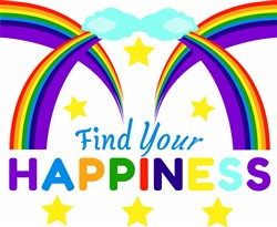Rainbow Find Your Happiness print art