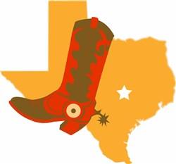Texas & Cowboy Boot print art