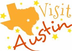 Texas Visit Austin print art
