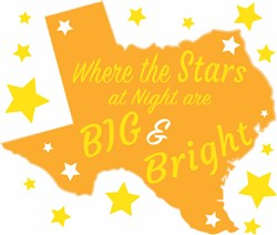 Texas Where The Stars At Night Are Big And Bright print art