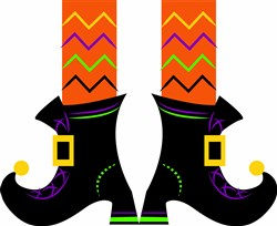 Witch Boots print art