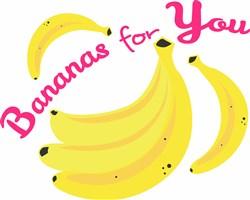 Bananas Bananas For You print art