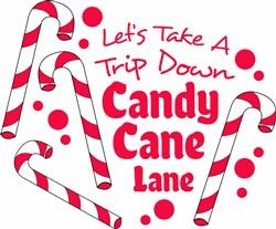 Candy Cane Lane print art