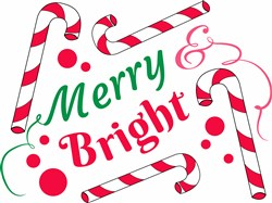 Merry And Bright print art