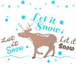 Deer Let It Snow print art