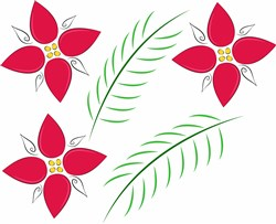 Holiday Flowers Base print art