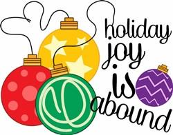 Ornaments Holiday Joy Is Abound print art