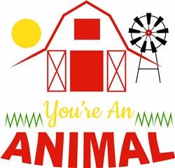 Barn You re An Animal print art