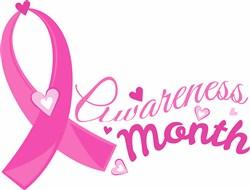Pink Ribbon Awareness Month print art